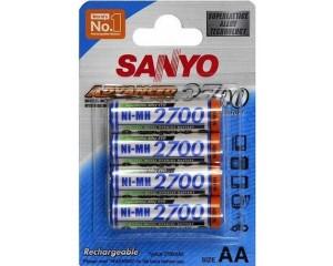 Аккумуляторы SANYO Ni-MH 2700мА/ч (4 шт.)
